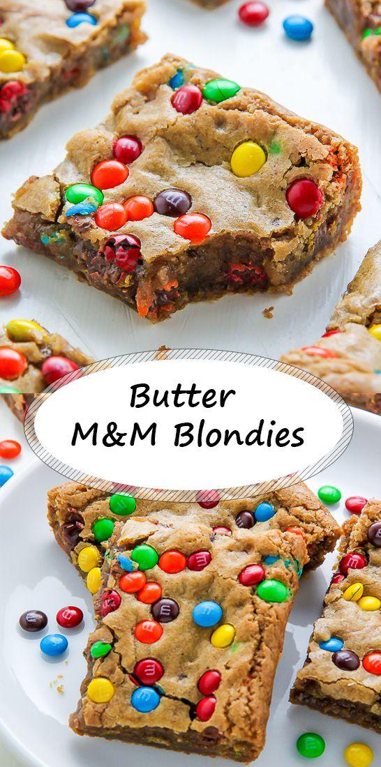 Butter M & M Blondies   – THÁ SWĘETØÖTH