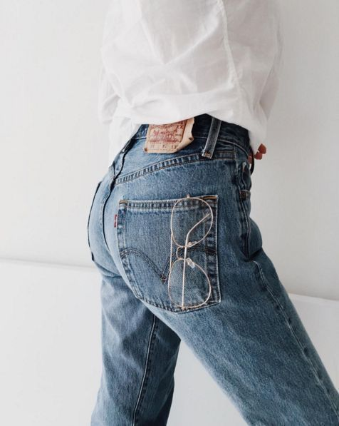 denim + white shirt  — curated by minimalism.co