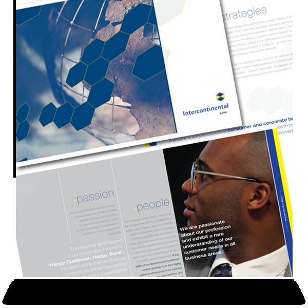 Intercontinental Bank:   Corporate brochure detail.