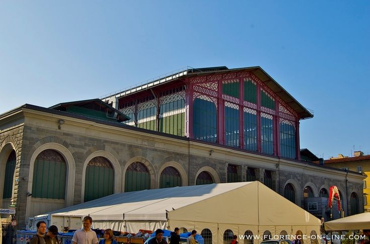 The Mercato Centrale - the major food market of Florence.