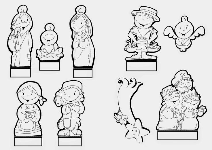 58 mejores im genes de belenes para colorear en pinterest - Dibujos de belenes ...