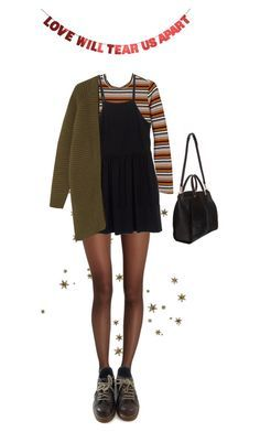 """Untitled #100"" by borninthe1990s ❤ liked on Polyvore featuring Wolford, Monki, Miu Miu, Maiyet and Dr. Martens 