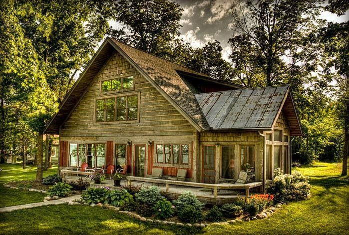 Landscaping Pictures For Log Homes : Log home beautiful landscaping homes