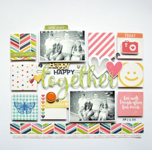 Happy Together Layout by Nicole Nowosad featuring JIllibean Soup Chit Chat Chowder