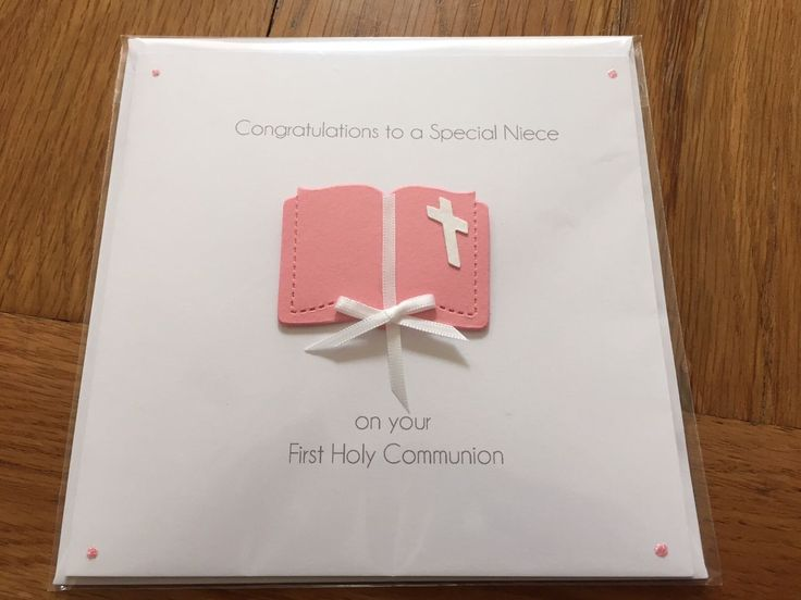 "Congratulations on your First Holy Communion Special Niece Handmade Card New FOR SALE • £2.49 • See Photos! Money Back Guarantee. Congratulations on your First Holy Communion Special Niece Handmade Card 6"" square card with matching white envelope. 381785330643"