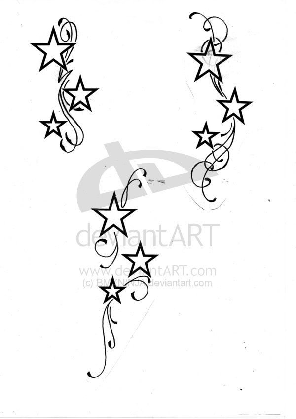 Pin Stars And Swirls Tattoo Design Pictures Collection on Pinterest