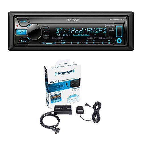 Kenwood KDC-BT565U In Dash CD Player AM/FM Bluetooth Radio Stereo Receiver With Sirius SXV300-V1 Vehicle Satellite Radio Tuner. For product info go to:  https://www.caraccessoriesonlinemarket.com/kenwood-kdc-bt565u-in-dash-cd-player-amfm-bluetooth-radio-stereo-receiver-with-sirius-sxv300-v1-vehicle-satellite-radio-tuner/