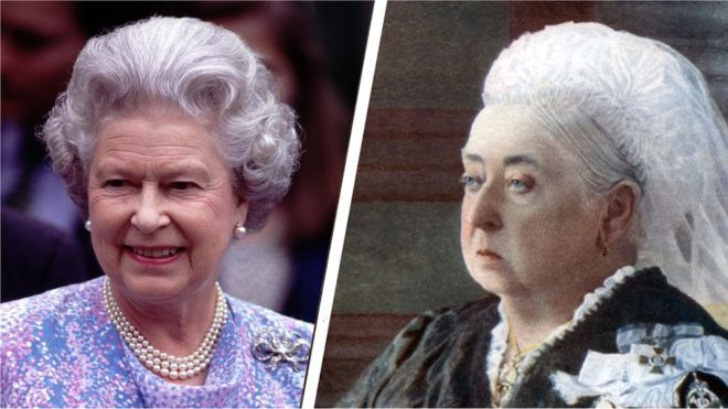 Queen Elizabeth II and Queen Victoria - Queen Victoria was Elizabeth II's great-great grandmother. Victoria became queen at 18 while Elizabeth was 25. - On Wednesday, 9th September 2015, Queen Elizabeth II will become the UK's longest serving monarch - overtaking Queen Victoria's reign of 63 years, seven months and two days. When Elizabeth became Queen in 1952, Stalin was still leader of the USSR and Truman President of the US.