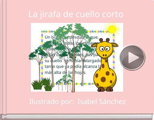 Book titled 'La jirafa de cuello corto'