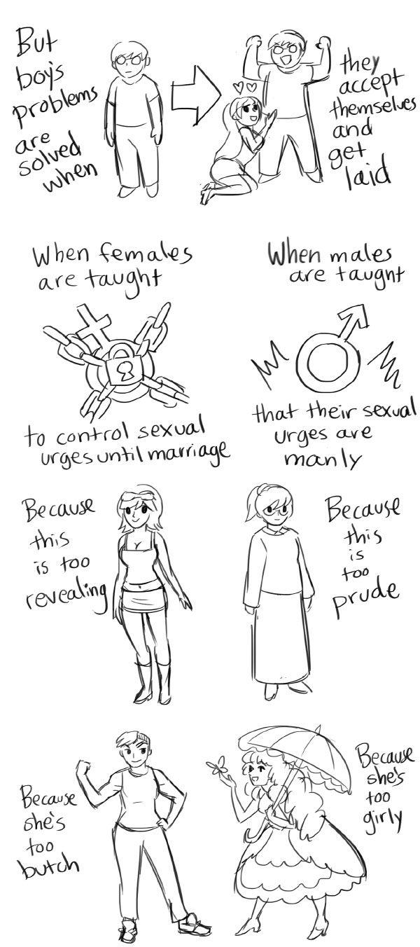 Sexism goes both ways. Feminism helps both. - Album on Imgur