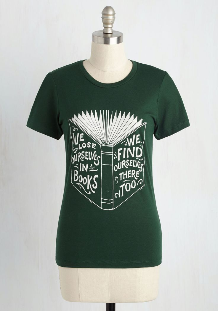 Page-Old Adage Tee - Green, Casual, Nifty Nerd, Short Sleeves, Knit, Good, Crew, Mid-length, Cotton, Novelty Print