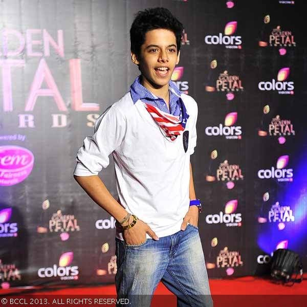 Dec 14, 2013: Darsheel Safary @ Colors TV 3rd Golden Petal Awards, Mumbai (BCCL/Anuja Gupta)