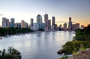 The Brisbane skyline from our new home in Kangaroo Point!