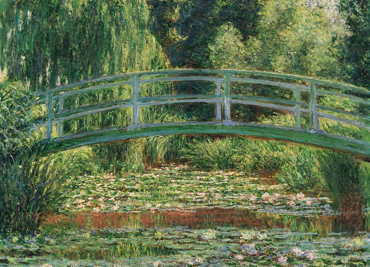 Claude Monet - The Japanese Footbridge. 1000 pieces. Water Lilies and Japanese Bridge represents two of Monet's greatest achievements: his gardens at Giverny and the paintings they inspired.