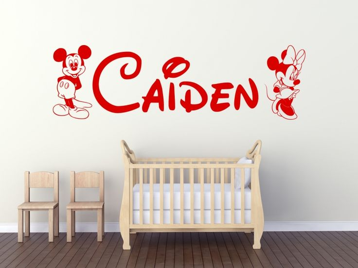 Mickey and Minnie Mouse personalised with a name.   Available in over 20 colours and all personalisation is free!!
