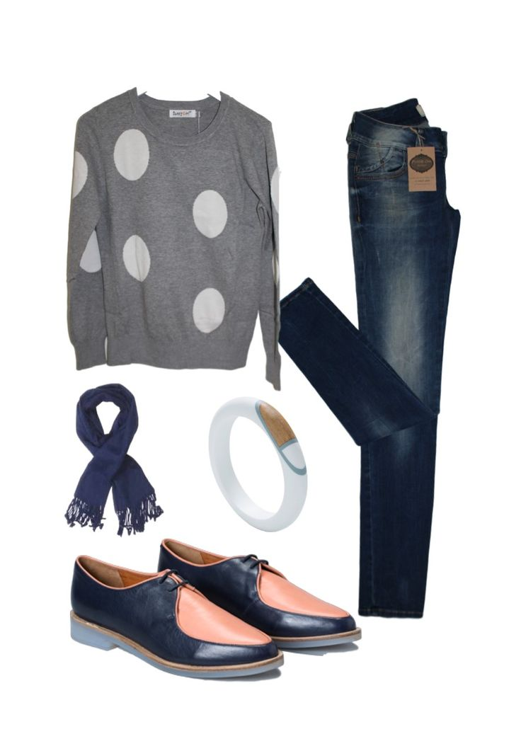 Autumn Inspiration-Polka Pam-  LTB Jeans Sunny Girl Knit Eb&Ive Scarf Elk bangle & Shoes