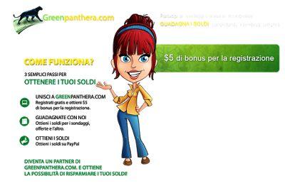 donneinpink - risparmio e fai da te: Guadagnare online con Greenpanthera sondaggi e cas...