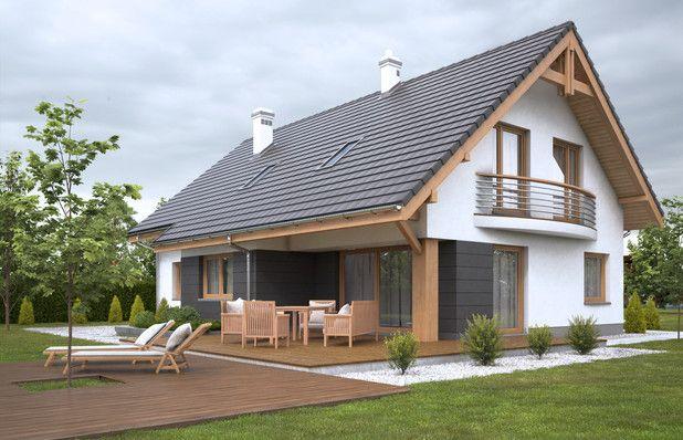 Projekt domu Kardamon z garażem dwustanowiskowym (TZS-712) - 172.68m²