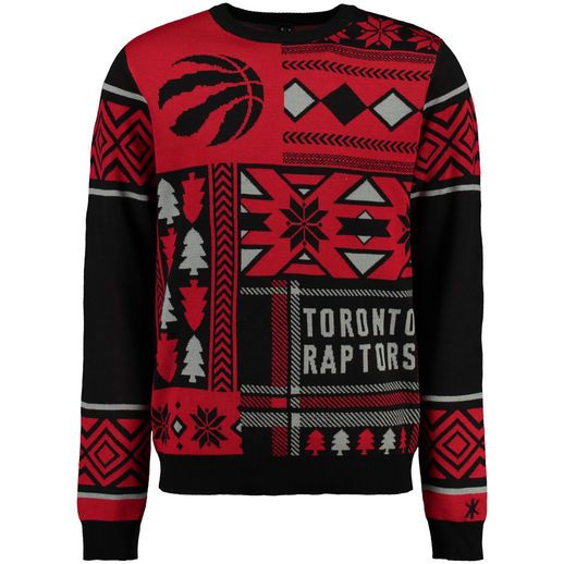 Toronto Raptors Red Patches Ugly Christmas Sweater