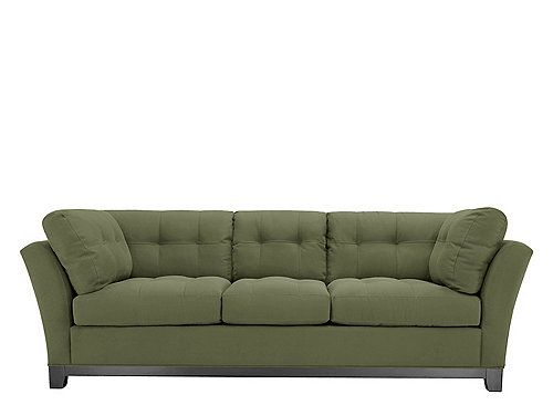 Beauty and comfort are the signatures of this Cindy Crawford Home Metropolis microfiber sofa. You'll love relaxing on the sofa's soft microfiber fabric, and the deep-seated cushions conform to your body for extraordinary comfort.