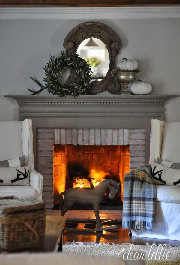 17 Best ideas about Fall Fireplace Mantel on Pinterest ...