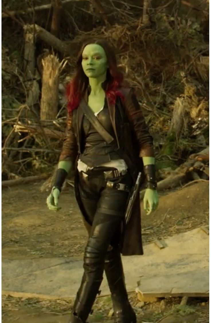Is it just me or does Gamora look like Peter is rubbing off on her fashion style? Guardians of the Galaxy Vol. 2 Gamora Jacket