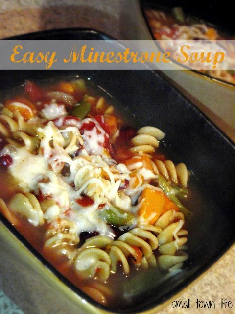 Easy Minestrone Soup recipe. Sub zucchini instead of green beans! The whole recipe is at http://porkrecipe.org/posts/Easy-Minestrone-Soup-recipe-Sub-zucchini-instead-of-65083