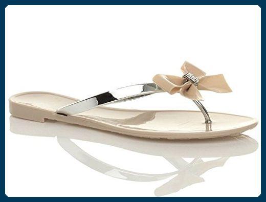 Ajvani , Damen Dusch- & Badeschuhe, Beige - Nude / Silver - Größe: 35 - Sandalen für frauen (*Partner-Link)