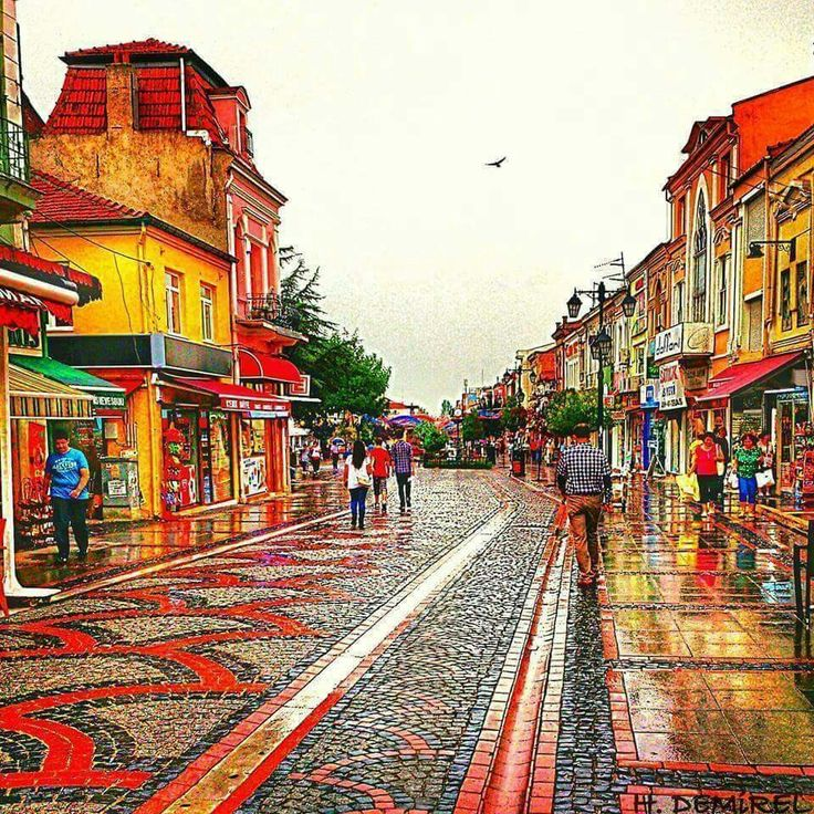 Adrianople streets Edirne TURKEY