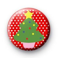 Sweet Christmas Tree Badges  Button Badges £0.85