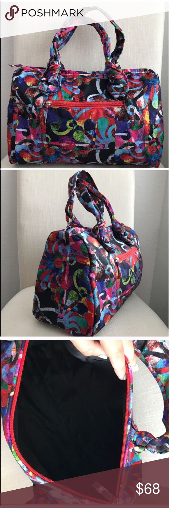 """MEXICAN COLORFUL SATCHEL HANDBAG 💗Condition: New in original package. No flaws, no rips, holes or stains. Nylon fabric. Lined inside. Inside pocket. Outside pocket with zipper. All zippers functionals. Packable and perfect for traveling. Measurements: 13""""x10.5""""x6.5 💗Smoke free home/Pet hair free 💗No trades, No returns. No modeling  💗ALL ITEMS ARE OWNED BY ME. NOT FROM THRIFT STORES 💗All transactions video recorded to ensure quality.  💗Ask all questions before buying kikisflorida Bags…"""