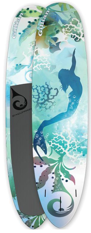 Mermaid Lovers Stand Up Paddle Package (SUPCO Gillian Board, YOLO EJ Mermaid Paddle and SUP Accessories)