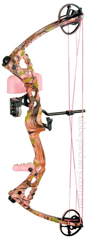 Pink Camo Bow. i always want to do archery just didnt have the money to get a bow