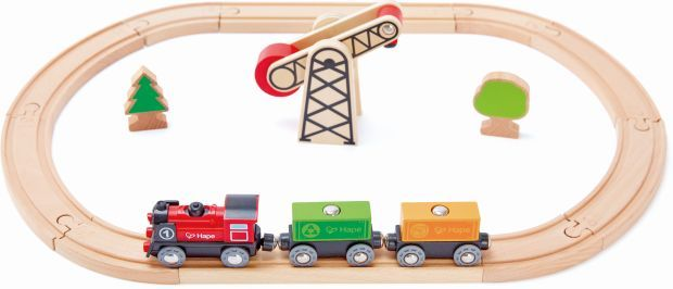 Hape Railway Ξύλινο Σετ Σιδηρόδρομος (E3721A) - http://kids.bybrand.gr/hape-railway-%ce%be%cf%8d%ce%bb%ce%b9%ce%bd%ce%bf-%cf%83%ce%b5%cf%84-%cf%83%ce%b9%ce%b4%ce%b7%cf%81%cf%8c%ce%b4%cf%81%ce%bf%ce%bc%ce%bf%cf%82-e3721a/