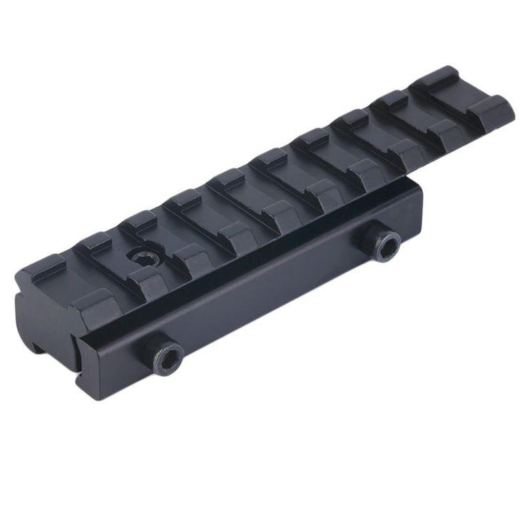 Hot Sale Promosi 11mm untuk 20mm Pas Weaver Picatinny Rail Adapter Converter Mount Lingkup Dasar Aluminium Alloy Hitam