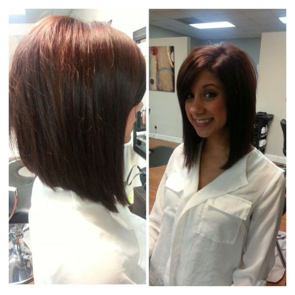 Long angled bob. Only I would want it slightly  longer in the front. by dee
