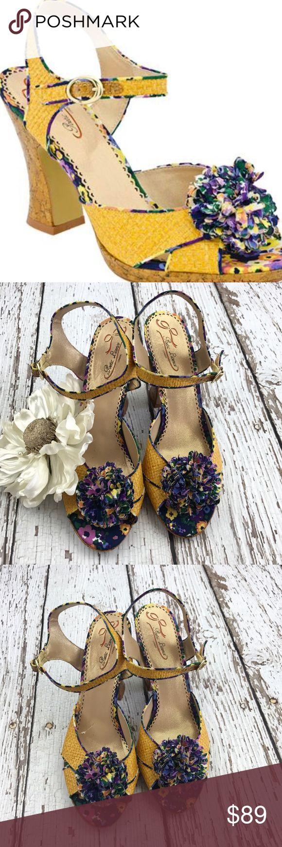 "💕SALE💕Poetic Licence Yellow Dress Italian Sandal Gorgeous 💕Poetic Licence Yellow Dress Italian Sandals 3 1/2"" Heel Poetic License Shoes Sandals"