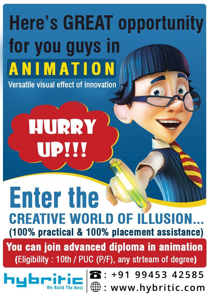 Enter The Creative World Of Illusion Animation Course From Hybritic 100 Job Assurance Hybritc Animation Social Media Digital Marketing Website Development