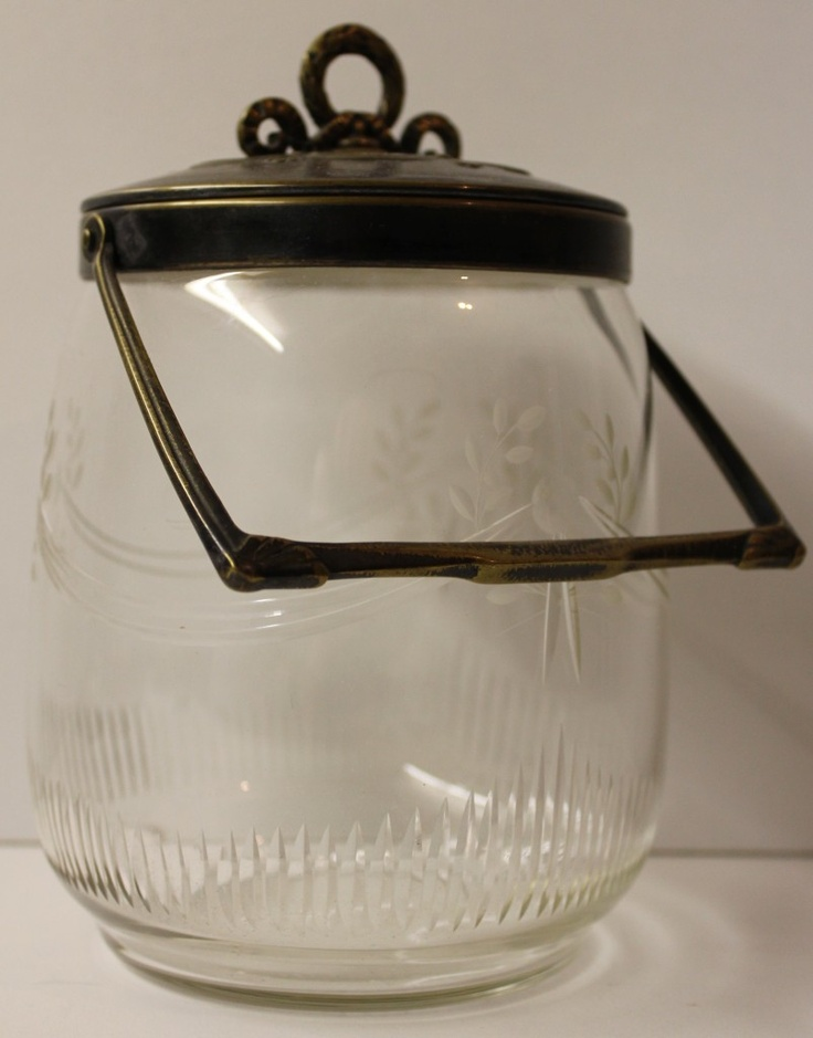 Art Nouveau cut glass biscuit jar.1900's    I want this!