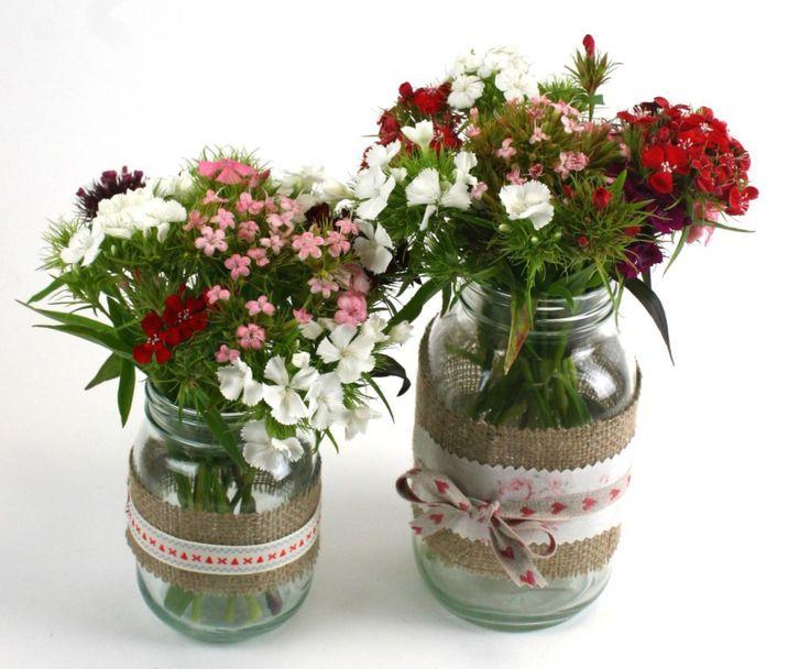 How to Make Hessian Jars #wedding #hessian #bridal