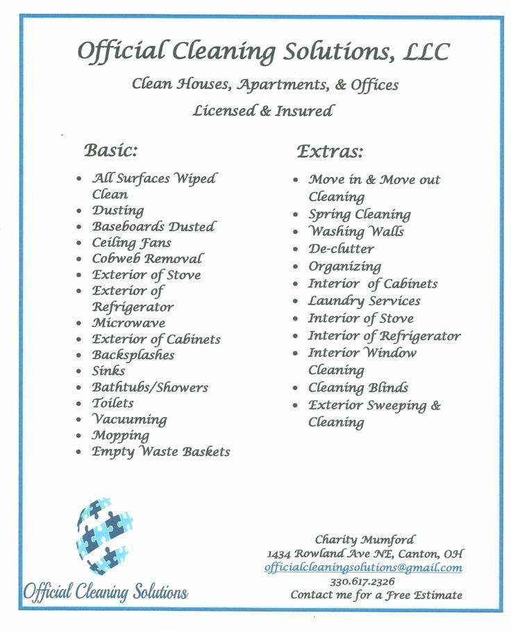 House Cleaning Price List Awesome 14 Best Cleaning Service Images On Pinterest In 2020 Cleaning Business House Cleaning Prices Cleaning Business Cards