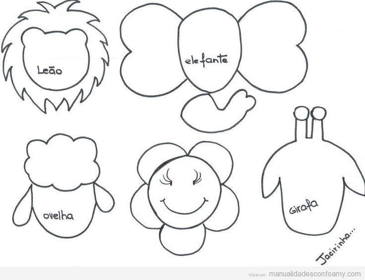 Plantillas con cabezas de animales para decorar lápices
