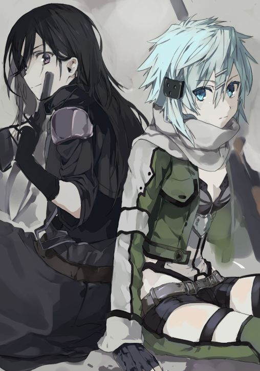 Sinon/Kirito ❤️ [Sword Art Online][Sao] [GGO Version]