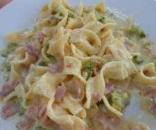 Rezept Variation von Bandnudeln an Brokkoli-Schinken-Rahm von kim1812 - Rezept der Kategorie sonstige Hauptgerichte