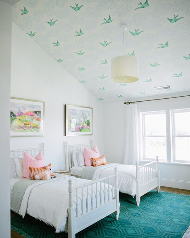 We've saved the best for last! It's our final reveal in the #modernfarmhouseproject On the blog we are sharing all the details of this whimsical shared girls room.  :: @lindseyorton