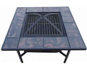 Ceramic Tile Coffee table, Firepit and BBQ Grill - BigPond Shopping $153