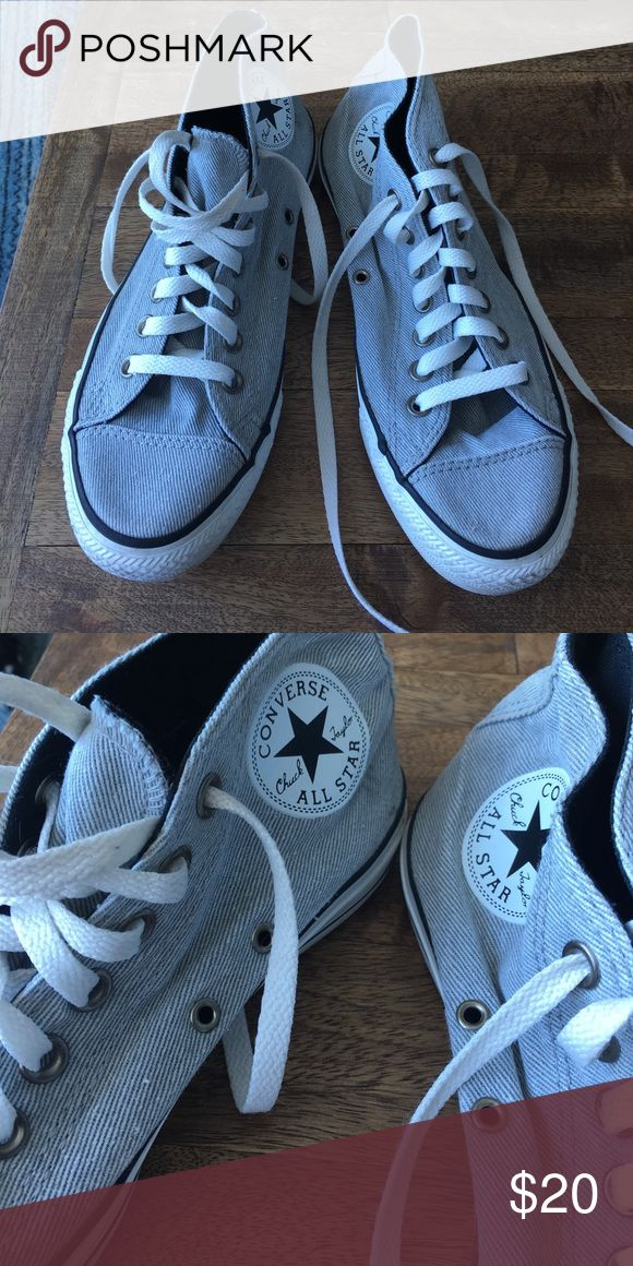 Grey high top Converse! Make an offer! 🇺🇸 Great condition. US women's size 9 grey/high top Converse Shoes Sneakers
