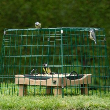 Flat-topped ground feeding sanctuary wide mesh