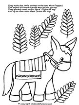 palm sunday donkey coloring pages - photo#19