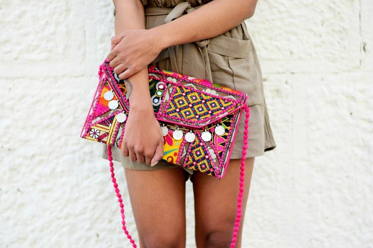 coin bohemian clutch summer outfit inspiration